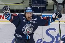 Liberecký útočník Dávid Gríger se raduje z gólu na 2:2.
