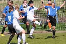 Druhá fotbalová liga žen v Krásné Studánce: Slovan Liberec - Rakovník 2:1 (1:0)