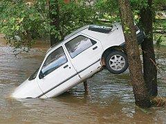Povodně na Liberecku. Ilustrační foto.