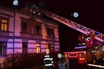 Požár ubytovny v Liberci.