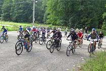 Závod horských kol do vrchu se jel již po jednadvacáté.
