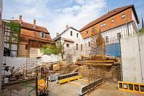 Výstavba nové knihovny v Hrádku nad Nisou.