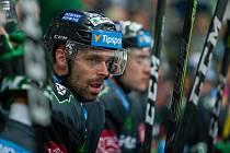 Utkání 6. kola Tipsport extraligy ledního hokeje se odehrálo 30. září v liberecké Home Credit areně. Utkaly se celky Bílí Tygři Liberec a BK Mladá Boleslav. Na snímku je Jakub Klepiš.