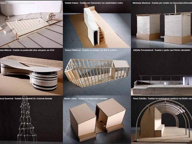 Studentské návrhy jejich podoby představuje výstava s názvem Veřejná toaleta je k vidění v budově libereckého magistrátu.