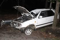 U Raspenavy na Liberecku se vážně zranil jednadvacetiletý řidič Felicie.