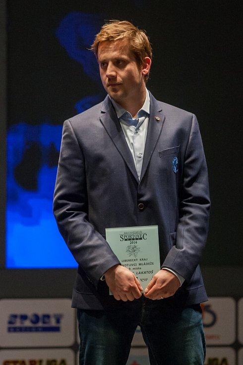 Vyhlášení ankety Nejúspěšnější sportovec Libereckého kraje za rok 2016 proběhlo 4. dubna v libereckém Divadle F. X. Šaldy. Na snímku Jan Víšek.