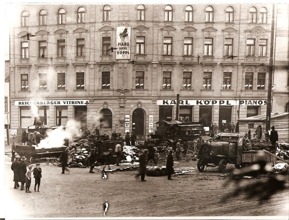 Historický snímek Liberce.