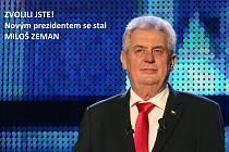 Novým prezidentem je Miloš Zeman.