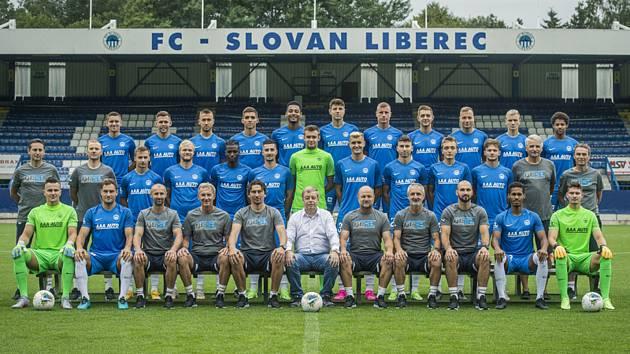 Fotografování fotbalistů prvoligového FC Slovan Liberec před sezonou,sezonu začnou doma proti Slovácku.