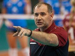 Na snímku je trenér libereckých volejbalistek Libor Gálík.
