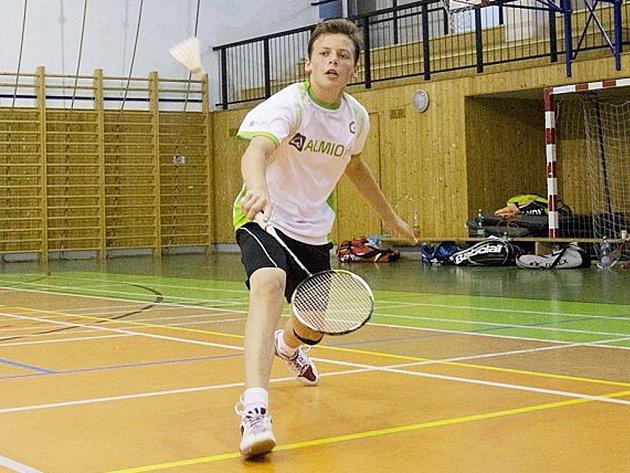 JIŘÍ VAJSEJTL. Úspěšný badmintonista z Vesce.
