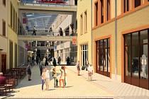 VIZUALIZACE. Obrázek ukazuje Galerii Žitava, tak jak by měla vypadal zevnitř.