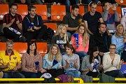 Utkání 2. kola volejbalové UNIQA Extraligy se odehrálo 9. října v Liberci. Utkaly se celky VK Dukla Liberec a Kladno volejbal cz. Na snímku jsou fanoušci Liberce.
