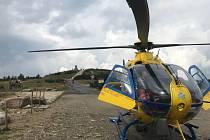 Záchranáři museli vzlétnout v nebezpečných podmínkách.
