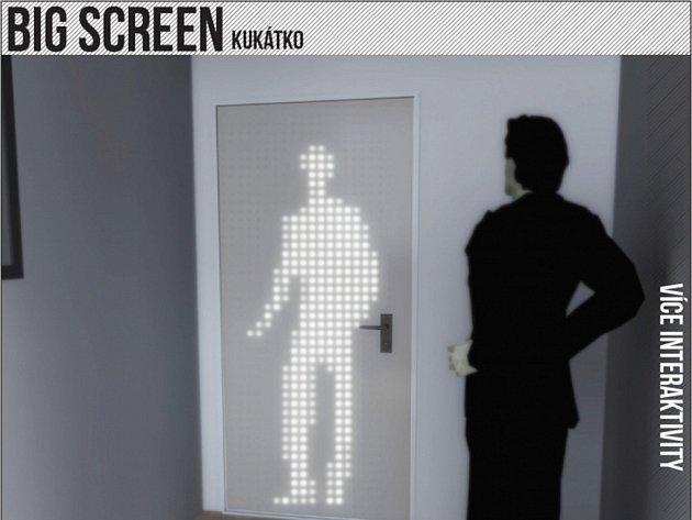 Pro pocit bezpečí malé dveřní kukátko málokdy stačí. Dveře navržené Danielou Pápajovou jsou založené na principu LED technologie, která by snímala pohyby návštěvníka bytu či domu.