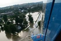 Snímky z vrtulníku - Hrádek nad Nisou.