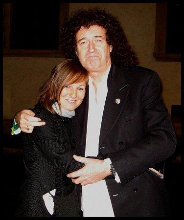 Redaktorka Hana Langrová a kytarista Queen Brian May vroce 2008.