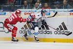 Extraliga ledního hokeje mezi HC Bílí Tygři Liberec a HC Oceláři Třinec. Na snímku Jan Šír.