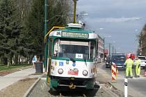 Tramvaj po roce vyjela z Liberce do Vratislavic nad Nisou.