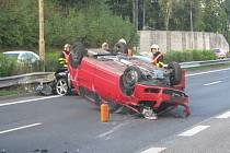 Nehoda na rychlostní komunikaci mezi Turnovem a Libercem.