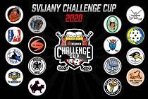 Týmy, které se zúčastní florbalového turnaje Svijany Challenge Cup.