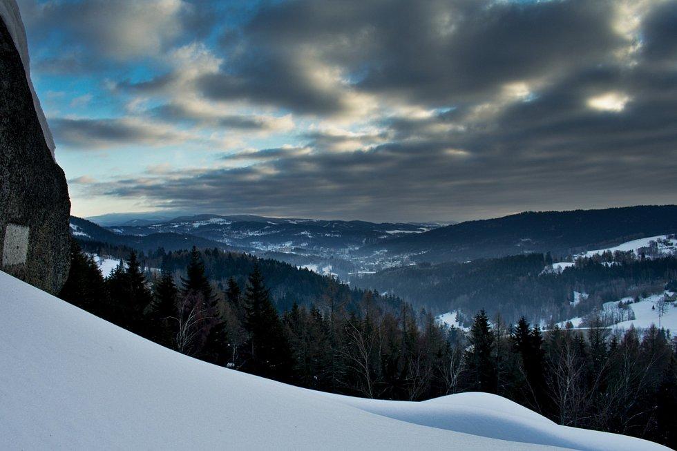 Sněhové údolí.