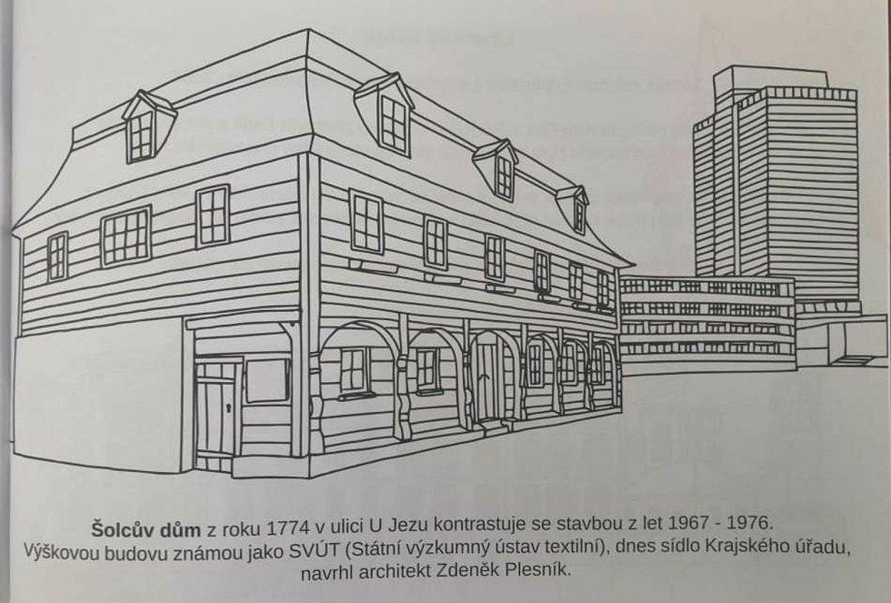 Rolandovy omalovánky liberecké architektury.