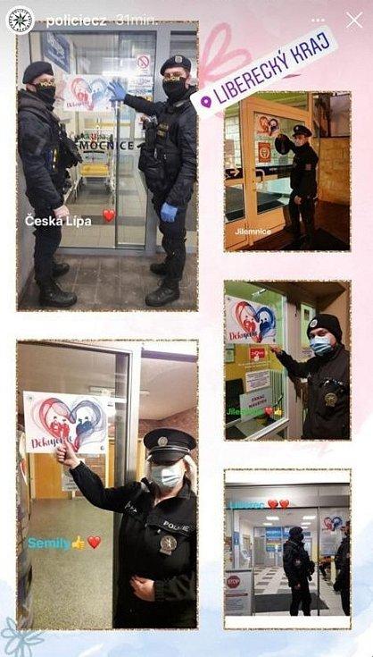 Policejní srdce bije pro zdravotníky i v Libereckém kraji.