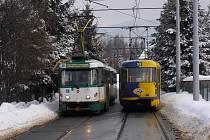 Kolejová spojka v ulici Stará Ještědská.