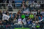 Utkání 31. kola Tipsport extraligy ledního hokeje se odehrálo 20. prosince v liberecké Home Credit areně. Utkaly se celky Bílí Tygři Liberec a BK Mladá Boleslav. Na snímku jsou fanoušci Liberce.