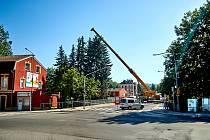 Odstraňování parovodu v Košické ulici
