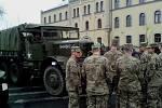 Historická vojenská technika u libereckých kasáren.