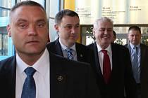 Prezident republiky Miloš Zeman na Krajském úřadu v Liberci.