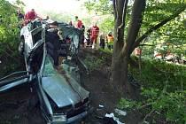 Tragická nehoda v Doníně na Hrádecku.