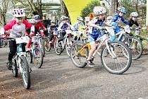 V areálu pivovaru Konrad v Liberci Vratislavicích se jel cyklozávod dětí MTB Cup.