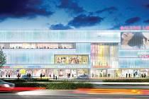 Vizualizace projektu společnosti ECE Praha, který se jmenuje Galerie Liberec.