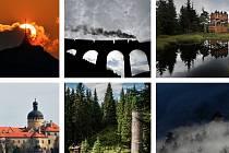 Atraktivní místa vrcholových partií Jizerských, Lužických a Žitavských hor.