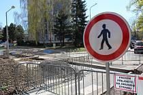 Dopravu v centru Liberce komplikuje uzavřená ulice Dr. Milady Horákové.