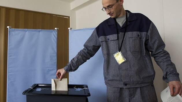 Své volební právo si odbyli také vězni v rýnovické věznici v Jablonci nad Nisou.