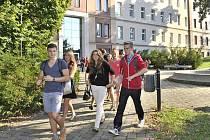 Studenti v Turnově.