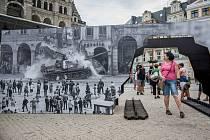 Vzpomínkového shromáždění u příležitosti 50. výročí invaze vojsk Varšavské smlouvy.