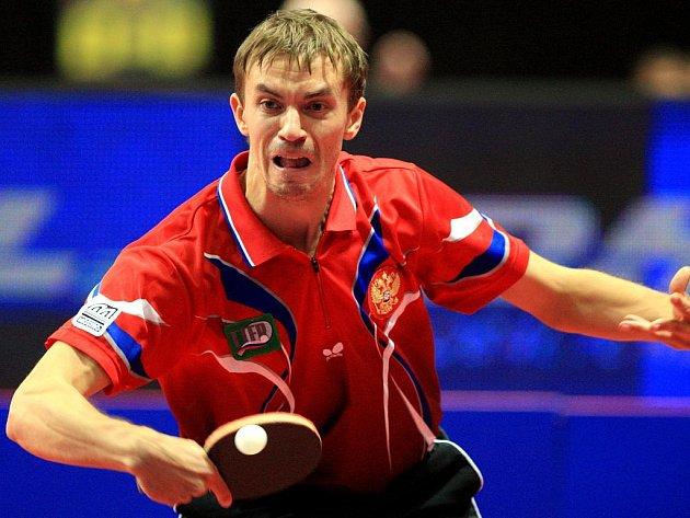PINGPONGOVÉ EMOCE. Na evropském šampionátu veteránů lze u hráčů očekávat stejné zaujetí, jako u stolních tenistů na loňském ME mužů a žen v Ostravě (na snímku reprezentant Ruska).