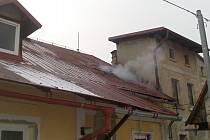Požár domu v Raspenavě