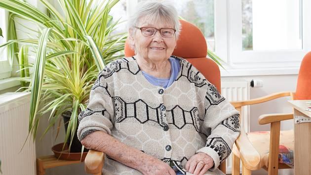 Jindřichovice, domov důchodců, paní Klicperová