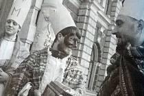 Tři králové před libereckou radnicí.