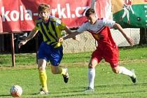V krajském přeboru se hrálo v minulých sezonách derby, v němž domácí Višňová prohrála s Hrádkem 0:3. Foto: Hana Strnádková