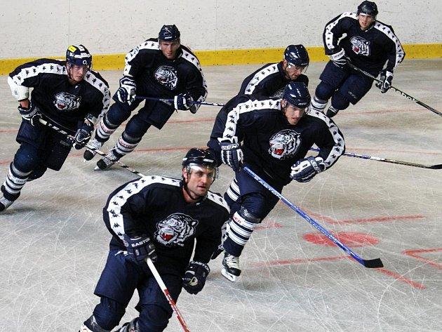 Hokejoví Bílí Tygři včera poprvé v letní přípravě vyjeli na led. Ve Svijanské aréně se objevilo 26 hráčů.