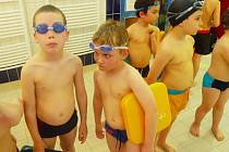 PŘED PRVNÍM STARTEM. Nervózní malí plaváčci.