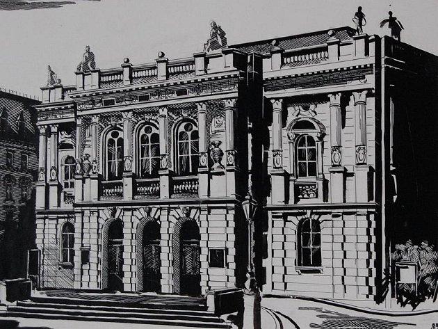 Kresba divadla od Heleny Cejnarové.