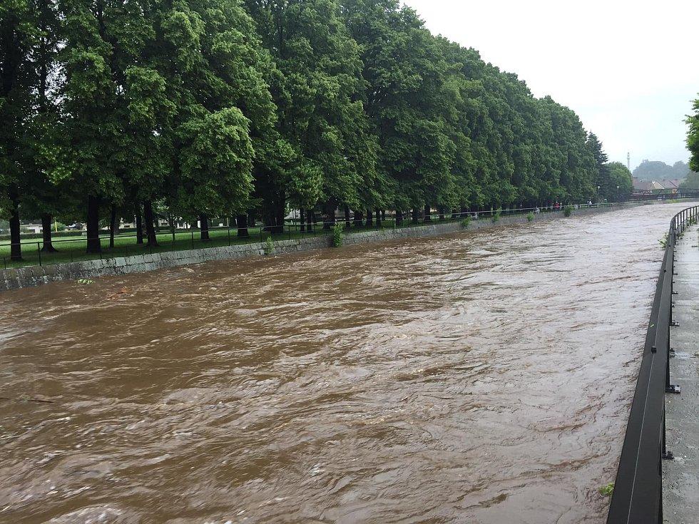 Řeka Smědá v 8.20.